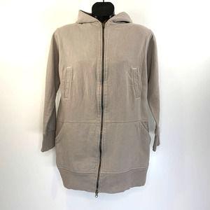 Loomstate Barneys Green Gray Zip Front Hood Jacket